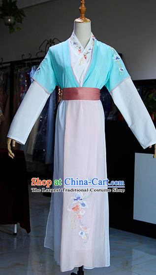 Chinese Ancient Drama Maidservants Costumes Traditional Song Dynasty Young Lady Dress for Women