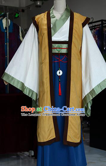 Chinese Ancient Drama Royal Highness Costumes Traditional Han Dynasty Swordsman Clothing for Men