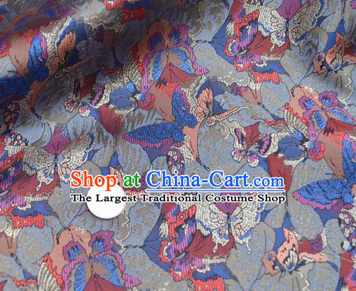 Traditional Chinese Royal Butterfly Pattern Design Brocade Silk Fabric Asian Satin Material