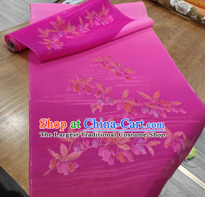 Chinese Traditional Pattern Design Rosy Silk Fabric Brocade Asian Satin Material