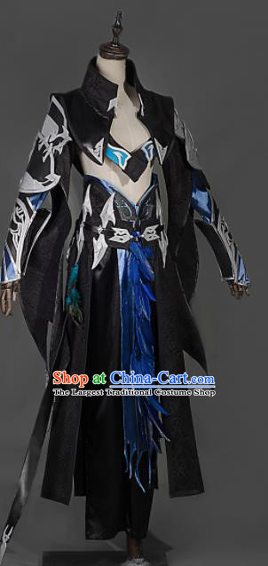 Chinese Ancient Cosplay Heroine Female Assassin Armor Dress Traditional Hanfu Swordsman Costume for Women