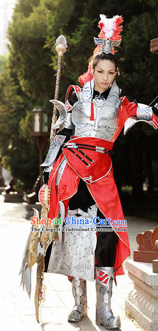 Chinese Ancient Cosplay Knight Armor Clothing Traditional Hanfu Swordsman Costume for Men