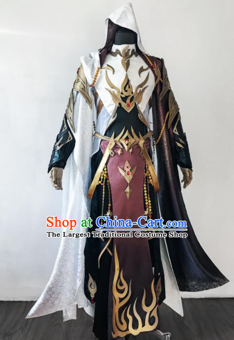 Chinese Ancient Drama Cosplay Knight Clothing Young General Armor Traditional Hanfu Swordsman Costume for Men