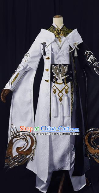 Chinese Ancient Cosplay Knight King Clothing Traditional Hanfu Swordsman Costume for Men