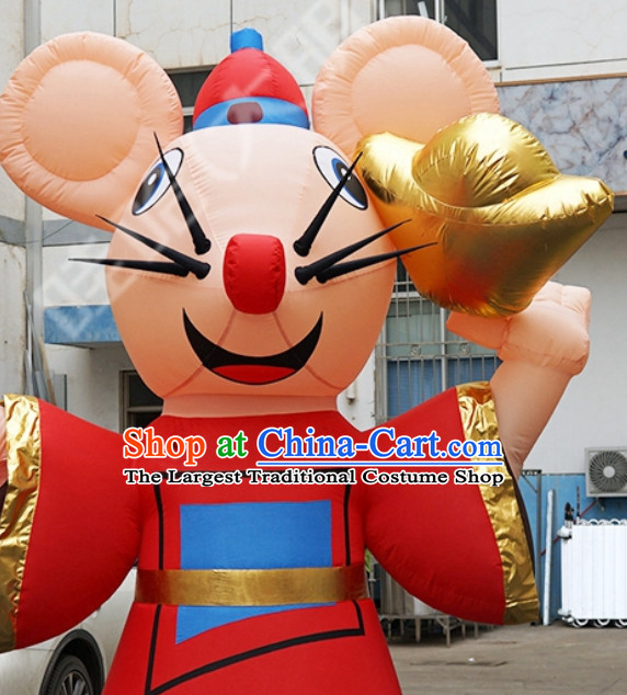 Chinese New Year Decorations Giant Inflatable Rats Complete Set