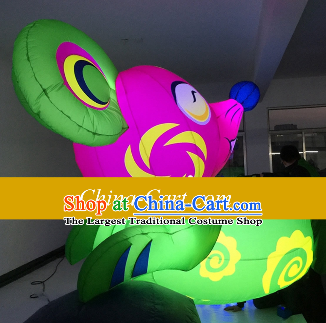 Chinese New Year Decorations Giant Inflatable Lucky Rat Complete Set