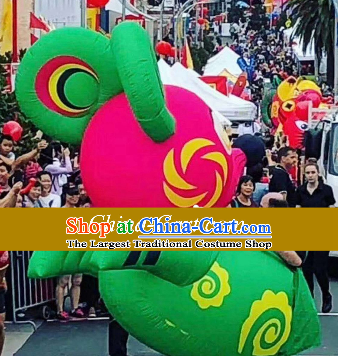 Chinese New Year Decorations Parade Giant Inflatable Lucky Rat Complete Set