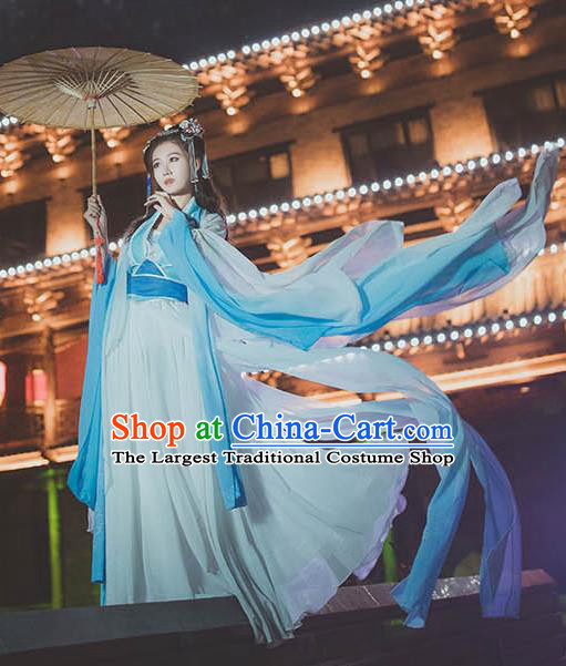 Chinese Traditional Cosplay Court Princess White Dress Custom Ancient Tang Dynasty Imperial Consort Costume for Women