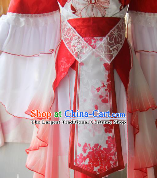 Chinese Traditional Cosplay Young Heroine Dress Custom Ancient Fairy Swordswoman Costume for Women