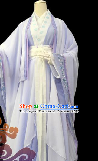Traditional Chinese Cosplay Female Knight Heroine Lilac Dress Ancient Swordswoman Costume for Women