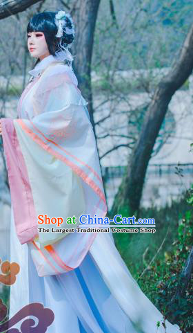 Traditional Chinese Cosplay Princess Imperial Consort Pink Dress Ancient Swordswoman Costume for Women