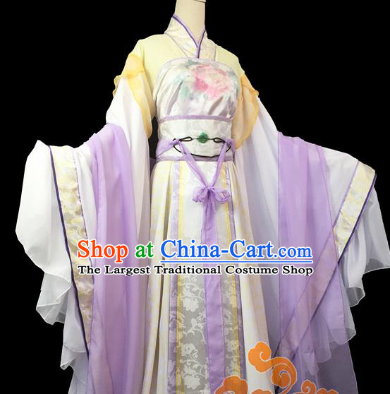Traditional Chinese Cosplay Court Princess Dress Ancient Swordswoman Costume for Women
