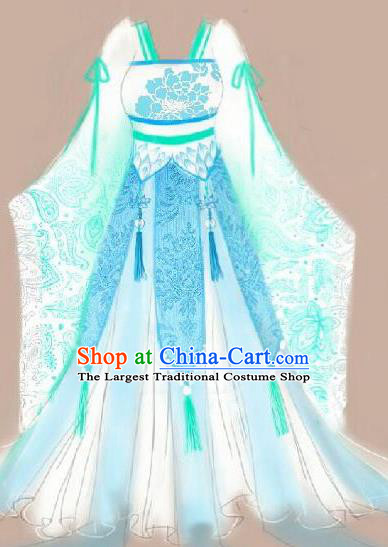 Traditional Chinese Cosplay Palace Princess Dress Ancient Court Lady Swordswoman Costume for Women