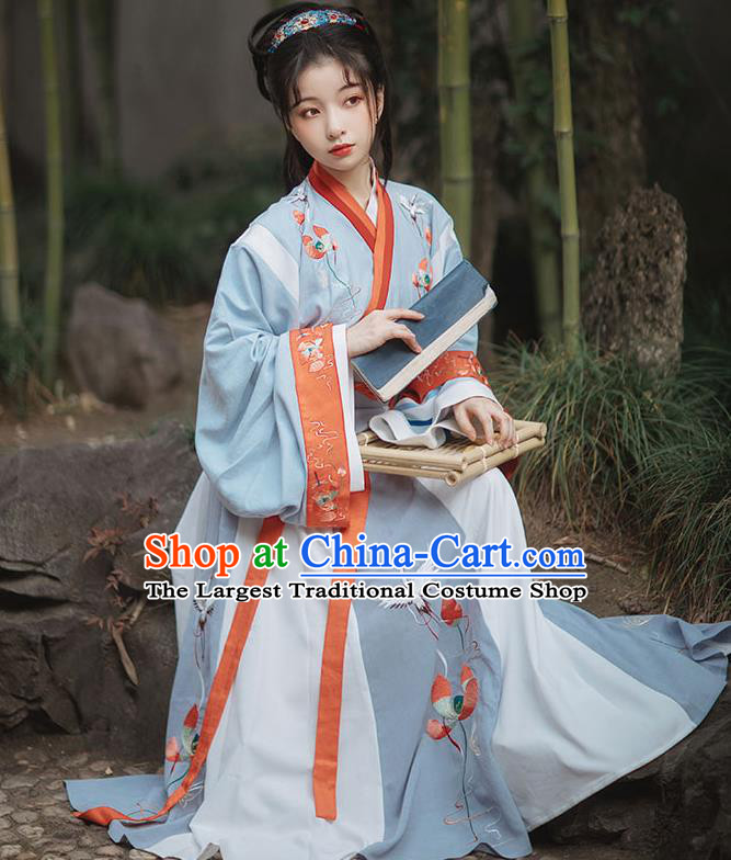 Ancinet Chinese Court Princess Hanfu Dress Traditional Jin Dynasty Imperial Consort Replica Costumes for Women