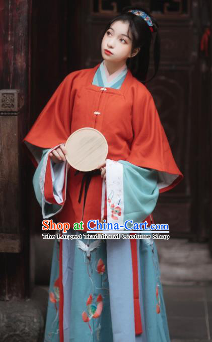 Ancinet Chinese Palace Princess Hanfu Dress Traditional Ming Dynasty Court Lady Replica Costumes for Women