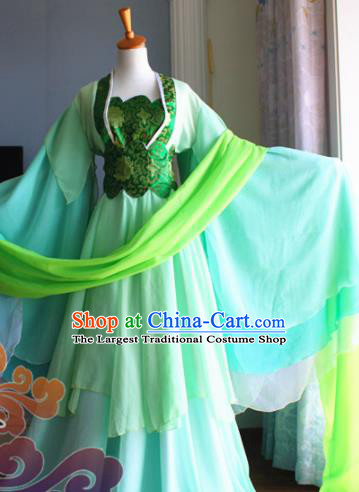 Traditional Chinese Cosplay Palace Princess Green Dress Ancient Court Lady Swordswoman Costume for Women