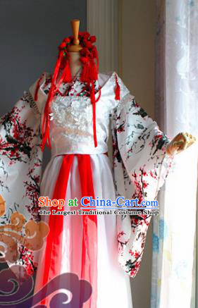 Traditional Chinese Cosplay Princess Peri Dress Ancient Court Lady Swordswoman Costume for Women