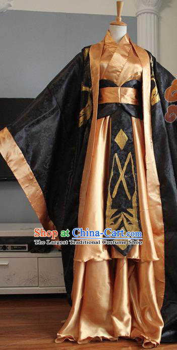 Custom Chinese Ancient Royal Prince King Clothing Traditional Cosplay Emperor Swordsman Costume for Men