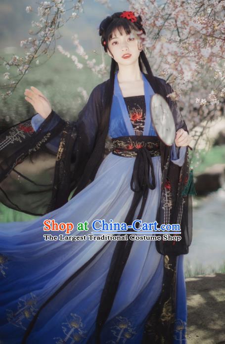Chinese Ancient Royal Princess Hanfu Dress Traditional Tang Dynasty Female Swordsman Costumes for Women