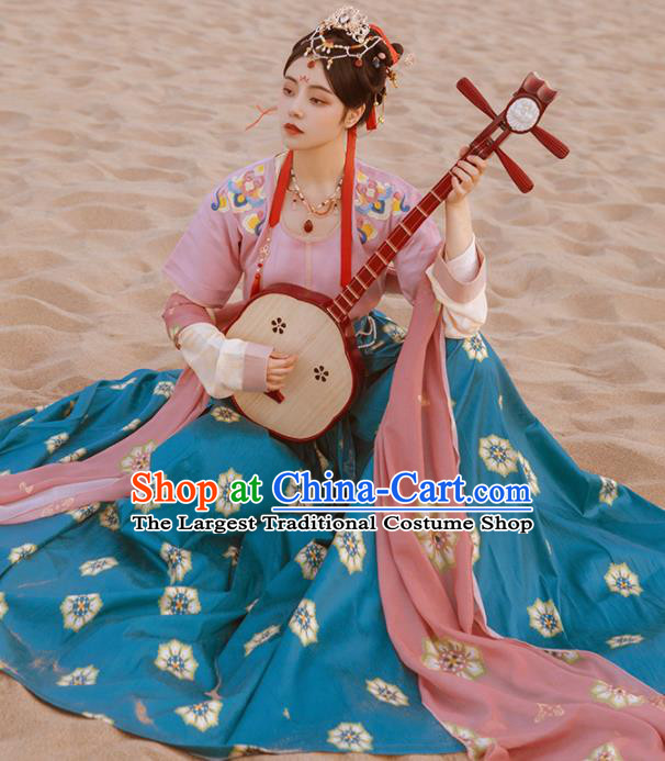 Chinese Ancient Palace Dancer Hanfu Dress Traditional Tang Dynasty Court Princess Costumes Complete Set for Women