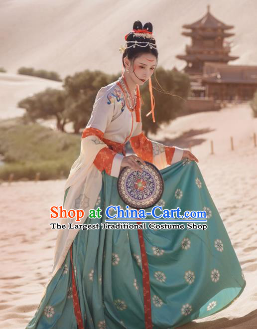 Chinese Ancient Tang Dynasty Court Lady Hanfu Dress Traditional Dunhuang Flying Apsaras Dance Costumes for Women
