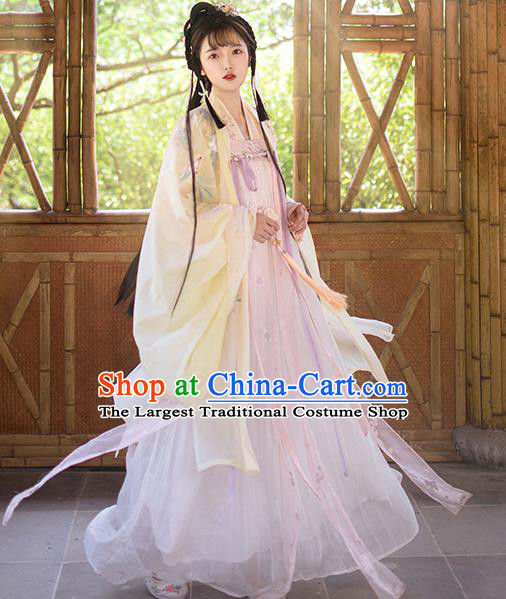 Traditional Chinese Tang Dynasty Palace Princess Hanfu Dress Ancient Court Lady Replica Costumes for Women
