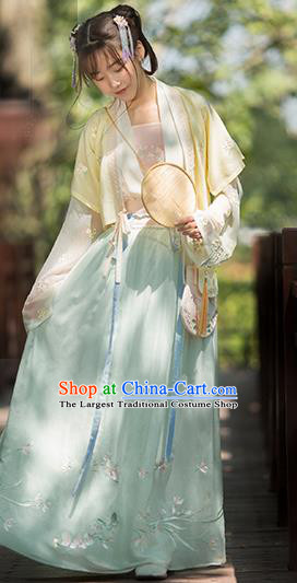 Traditional Chinese Song Dynasty Maidservants Hanfu Dress Ancient Young Lady Replica Costumes for Women