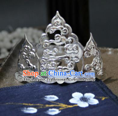 Chinese Ancient Princess Cloud Hair Crown Hairpins Traditional Handmade Hanfu Hair Accessories for Women