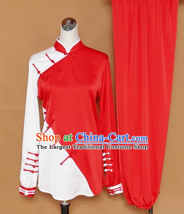 Chinese Professional Martial Arts Plated Buttons Costume Traditional Kung Fu Competition Tai Chi Clothing for Women