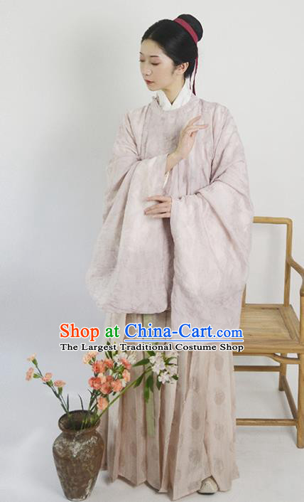 Traditional Chinese Ming Dynasty Embroidered Hanfu Clothing Ancient Nobility Lady Replica Costumes for Women