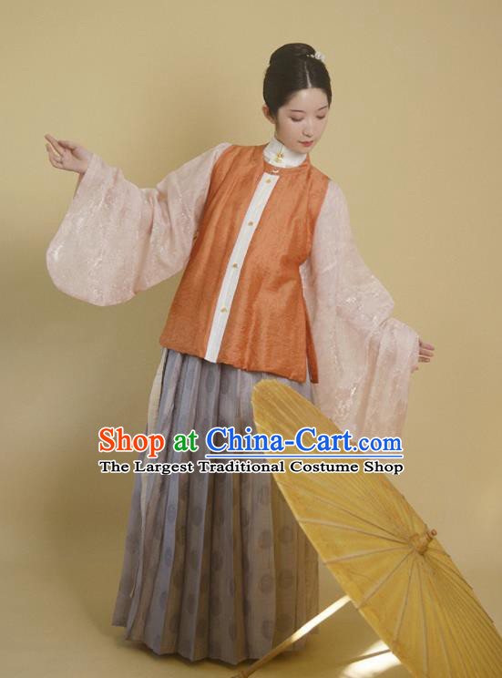 Traditional Chinese Ming Dynasty Noble Girl Hanfu Dress Ancient Drama Aristocratic Lady Replica Costumes for Women