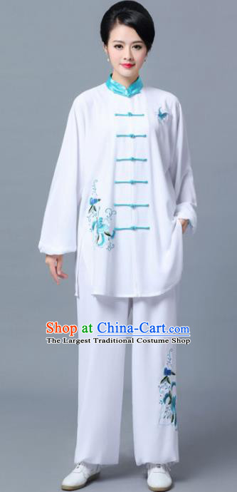 Professional Chinese Martial Arts Printing Costume Traditional Kung Fu Competition Tai Chi Clothing for Women