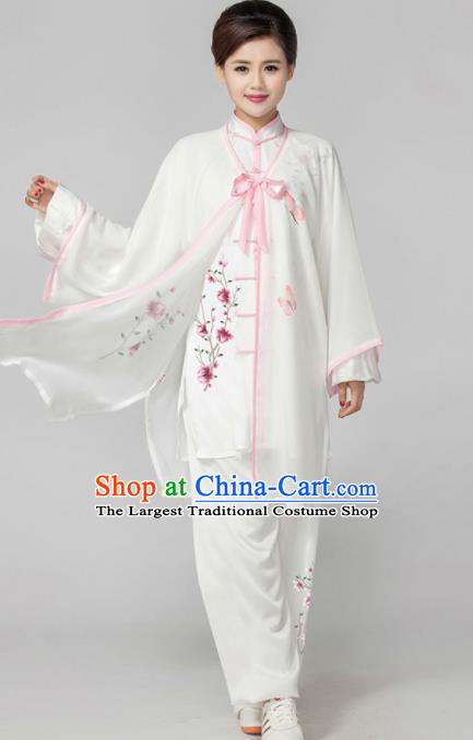 Professional Martial Arts Competition Printing Magnolia Costume Chinese Traditional Kung Fu Tai Chi Clothing for Women