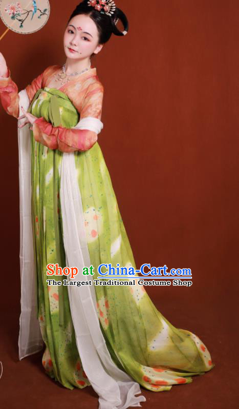 Traditional Chinese Tang Dynasty Palace Lady Hanfu Dress Ancient Drama Imperial Consort Dance Replica Costumes for Women