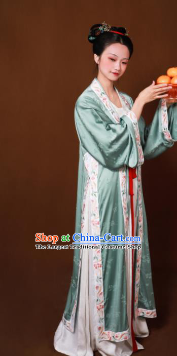 Traditional Chinese Song Dynasty Court Maid Embroidered Hanfu Dress Ancient Drama Aristocratic Lady Replica Costumes for Women