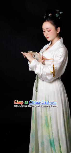 Traditional Chinese Song Dynasty Rich Mistress Hanfu Dress Ancient Drama Aristocratic Lady Replica Costumes for Women