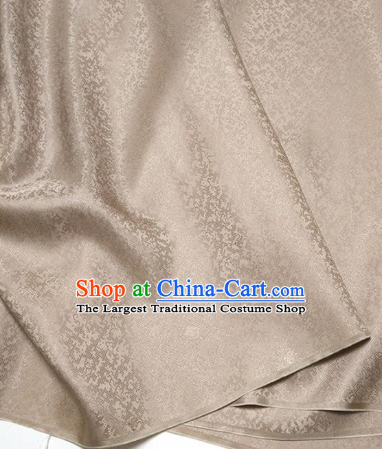Asian Chinese Traditional Pattern Design Brown Brocade Silk Fabric China Hanfu Satin Material