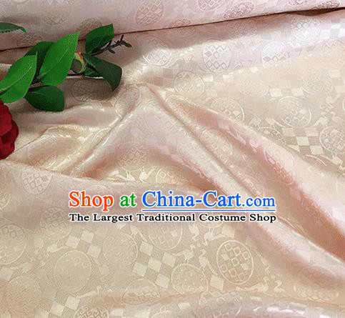 Asian Chinese Traditional Pattern Design Light Pink Silk Fabric China Qipao Material