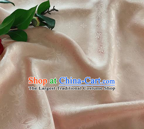 Asian Chinese Traditional Broken Branches Pattern Design Light Pink Silk Fabric China Qipao Material