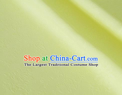 Asian Chinese Traditional Pattern Design Light Yellow Silk Imitation China Qipao Silk Fabric Material