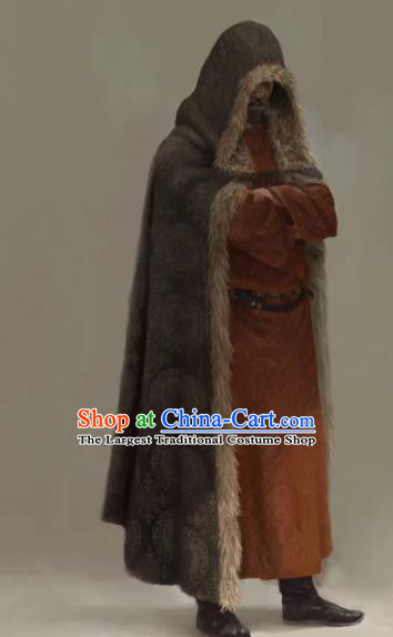 Chinese Drama the Longest Day in Chang An Ancient Tang Dynasty Swordsman Replica Costumes and Cloak Complete Set