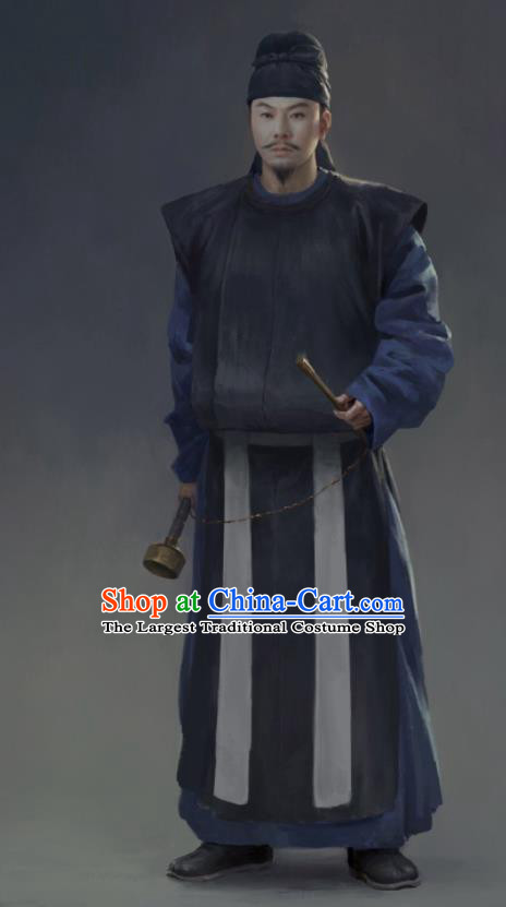 the Longest Day in Chang An Chinese Drama Ancient Tang Dynasty Swordsman Replica Costumes and Hat Complete Set