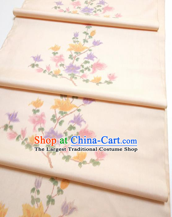 Asian Chinese Traditional Pattern Design Light Pink Silk Fabric China Hanfu Silk Material