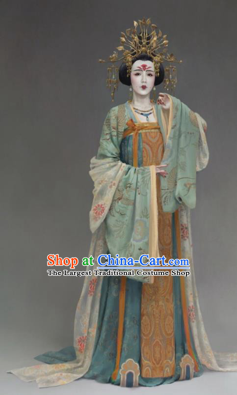 the Longest Day in Chang An Chinese Ancient Tang Dynasty Imperial Consort Replica Costumes and Headpiece Complete Set