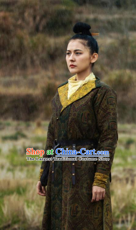 Chinese Ancient Tang Dynasty Female Swordsman Drama the Longest Day in Chang An Tan Qi Replica Costumes for Women