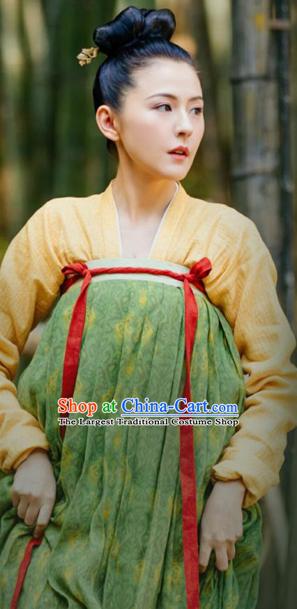 Chinese Ancient Tang Dynasty Court Maid Drama the Longest Day in Chang An Tan Qi Replica Costumes for Women
