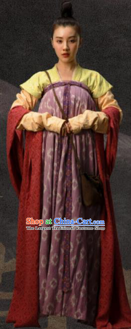 Ancient Chinese Tang Dynasty Female Civilian Drama the Longest Day in Chang An Wen Ran Replica Costumes for Women
