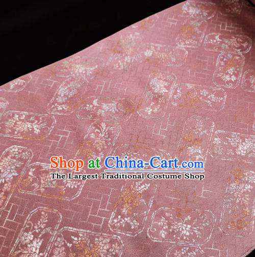 Chinese Traditional Classical Pattern Design Deep Pink Silk Fabric Asian China Cheongsam Silk Material