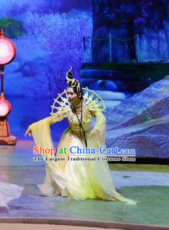 Chinese Stage Performance Qing Show Goddess Costumes and Headpiece Complete Set