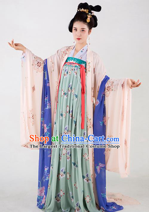 Chinese Traditional Court Lady Dress Ancient Tang Dynasty Imperial Consort Costumes for Women